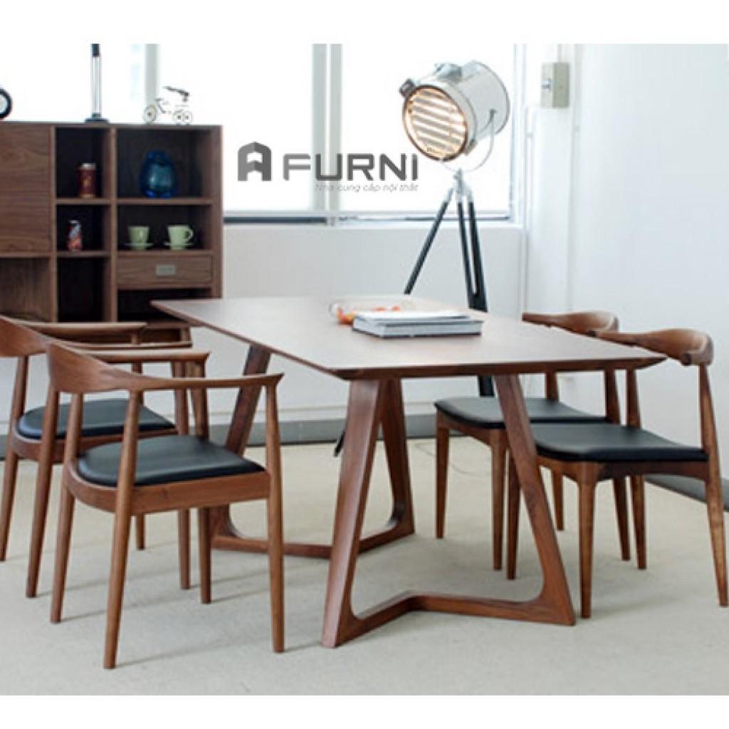Bộ bàn ăn gỗ nhập khẩu
