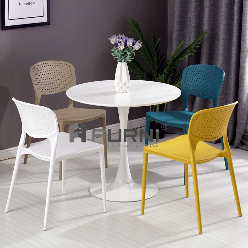 Bộ bàn ăn tròn hiện đại